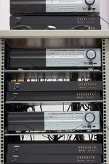 Digital Video Recorder in a rack.