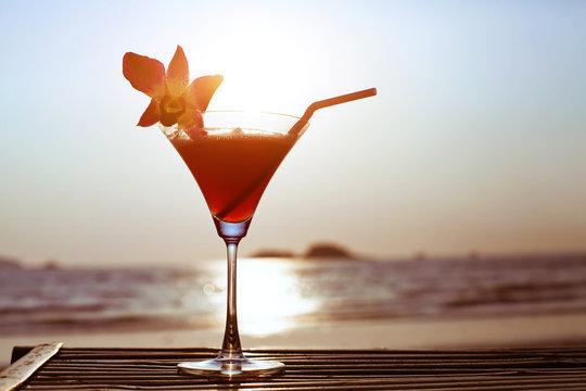 cocktail on the beach