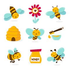 Cute Honey Bee Icons