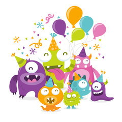 Happy Silly Cute Monsters Party
