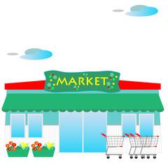 スーパーマーケット、スーパー、ストア、小売店、