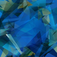 Geometric Color Blend Vector Background