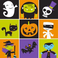 Jolly Halloween Monsters Tile