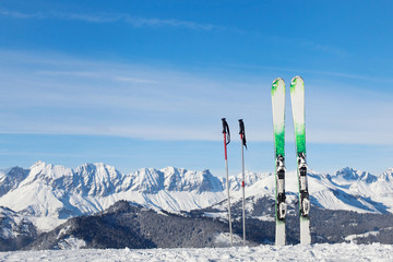 skiing in Alps, ready for winter vacations