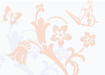 Flower and Butterfly Background