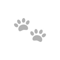 Simple icon paw tracks.