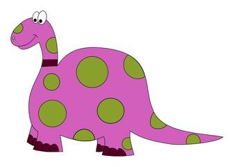 polka dots brontosaurus