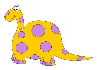 polka dots dinosaur yellow