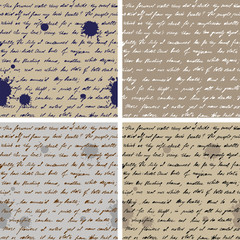 Old Paper With Hand-written Text Seamless Background