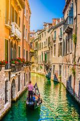 Türaufkleber Gondeln Gondola on canal in Venice, Italy