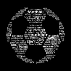 Football text collage