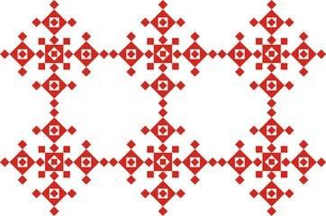 Красный традиционный этнический орнамент