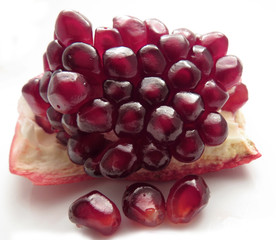 Chunk of pomegranate with seeds
