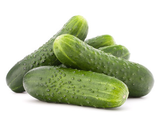 Wall Mural - Cucumber vegetable  isolated on white background cutout