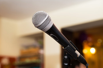 Microphone, object indoor, equipment for event