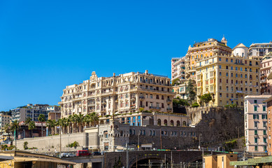 Fotorolgordijn Algerije View of Genoa city - Italy, Liguria