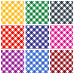 Gingham pattern collection