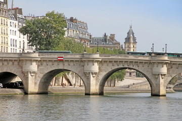 The Pont Neuf, spanning the Seine, Paris