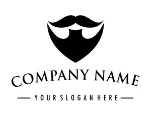 beard mustache logo image vector