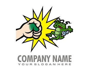 pest bug logo image vector