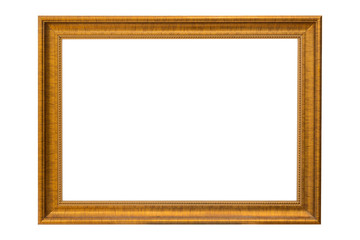 Bronze copper and Gold Frame vintage isolated on white backgroun