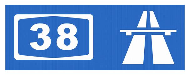 A38-Symbol mit Reflektierung