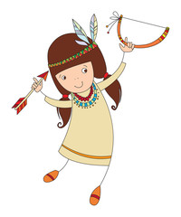 girl in costume of northern Indian