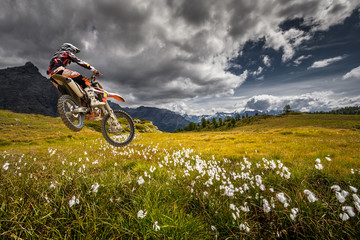 Wall Mural - enduro alps