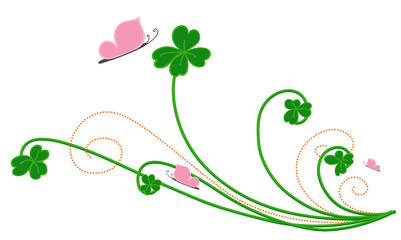 Patrick's Day Floral Vector Elements