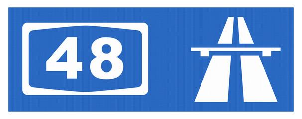 A48-Symbol mit Reflektierung