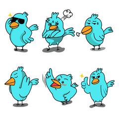 set of birds character 2