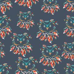 Wall Mural - owl vector illustration, seamless. trendy print textiles
