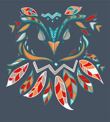 Wall Mural - beautiful owl vector illustration, abstract illustration