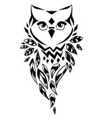 owl vector illustration, silhouette, design