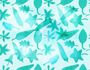 Seamless background pattern, of various shapes cut out of paper
