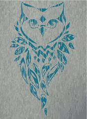 Wall Mural - owl vector illustration,