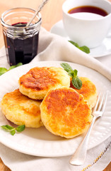 Quark cheese fried cakes