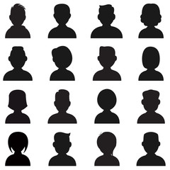 People Silhouettes Icon.