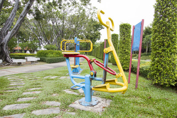 excercise machine in park at thailand
