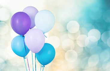 Air. Colorful balloons