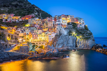 The Manarola villages of the Cinque Terre, Italy
