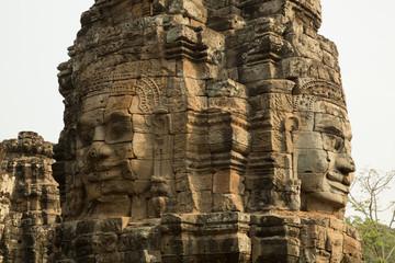 Bayon face column