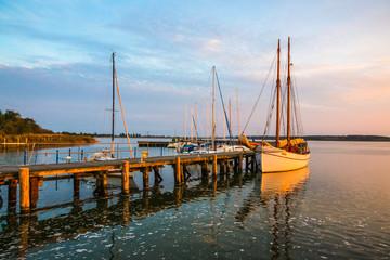 Hafen Peenemünde Sonnenuntergang