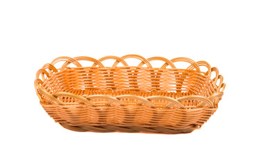 Empty wooden fruit or bread basket