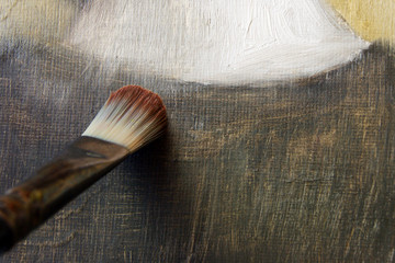 Brush on linen