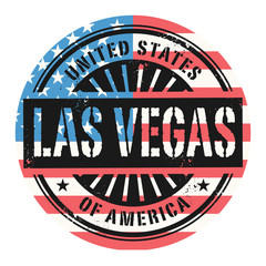 Grunge stamp with the text United States of America, Las Vegas