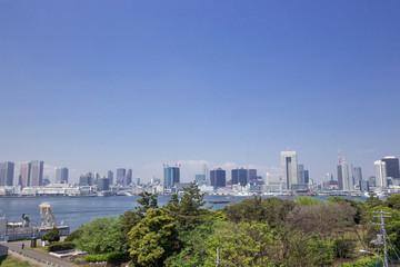 晴海埠頭から東京ベイエリアを臨む