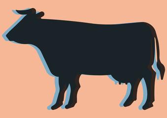 Vache laitière pop