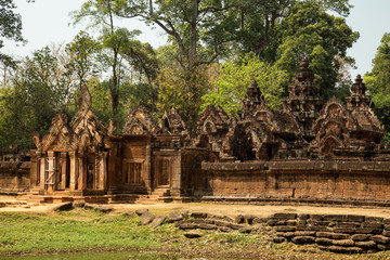 Banteay Srei entrance and towers