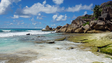 granite rocks on grand anse